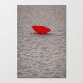 Lost red Umbrella Canvas Print