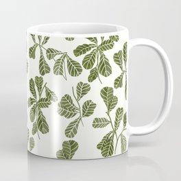 Fig Leaf Pattern Coffee Mug