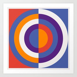 Circles Number Two - Red And Blue Art Print