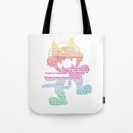 MonsterCat Typography Tote Bag
