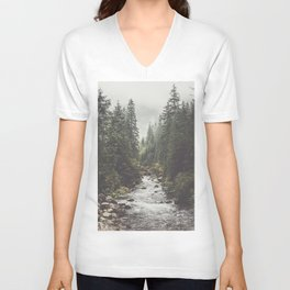 Mountain creek - Landscape and Nature Photography Unisex V-Neck