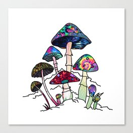 Garden of Shrooms Canvas Print