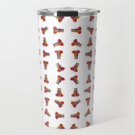 Rainbow Ganesha Pattern (White) Travel Mug