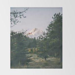 Mount Hood XIV Throw Blanket
