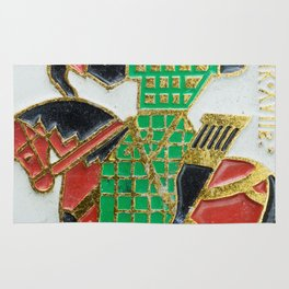 Russian Soldiers: Russian Lapel Pin Rug
