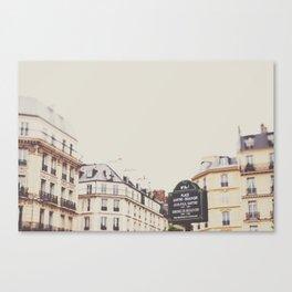 Place Sartre Beauvoir Canvas Print