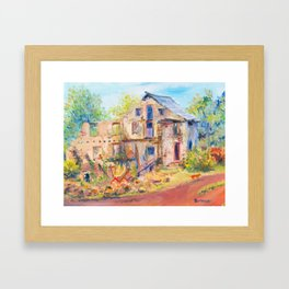 Tir Na Nog Farm - Steinsburg Gristmill Framed Art Print