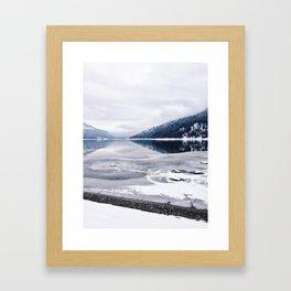 An Interrupted Reflection Framed Art Print