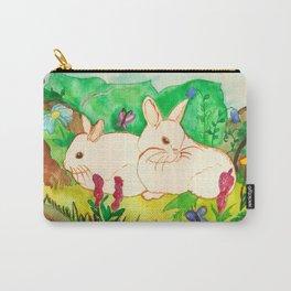 Garden Bunnies Carry-All Pouch