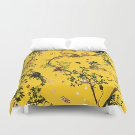 Monkey World Yellow Duvet Cover