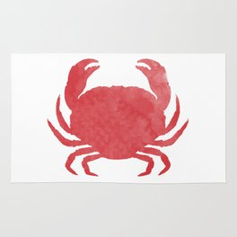 Watercolor Crab Rug