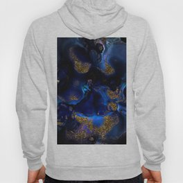 Gold and Indigo Malachite Marble Hoody