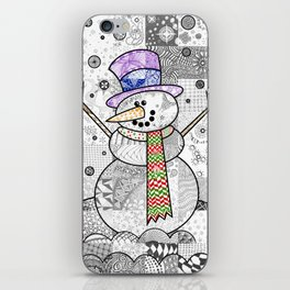 Coloured Snowman iPhone Skin