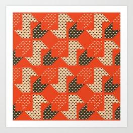 Clover&Nessie Apple/Choco Art Print