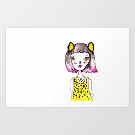 She's a cool cat! Art Print