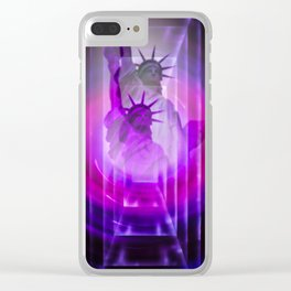 New York Statue of Liberty Clear iPhone Case