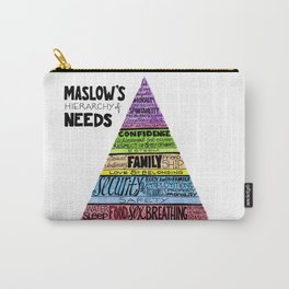 Maslow's Hierarchy of Needs, II Carry-All Pouch