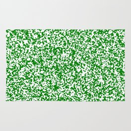 Tiny Spots - White and Green Rug