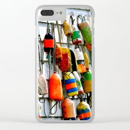 COLOURFUL FISHING FLOATS Clear iPhone Case