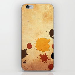 Abstract Indian Yellow Splash iPhone Skin