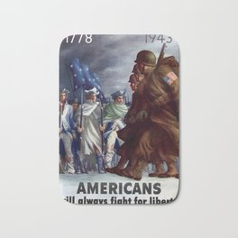 Americas will always fight for liberty Bath Mat