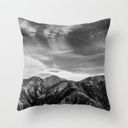 Mount Hutt Sky Throw Pillow