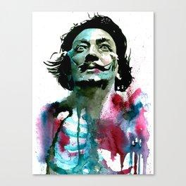 Watercolor Dali Canvas Print