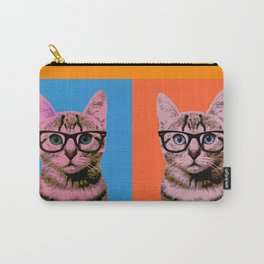 Cat in Four Colors Carry-All Pouch
