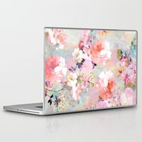 apple Laptop & iPad Skins featuring Love of a Flower by Girly Trend