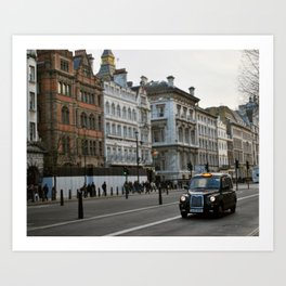 London Cab Art Print