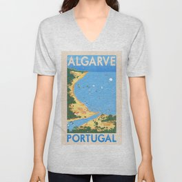 Travel Posters - Algarve Unisex V-Neck