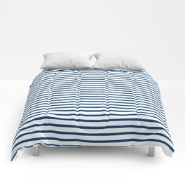 Sailor Stripes Navy & White Comforters
