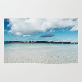 whitsunday island Rug