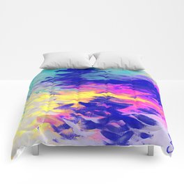Neon Mimosa Inspired Painting Comforters