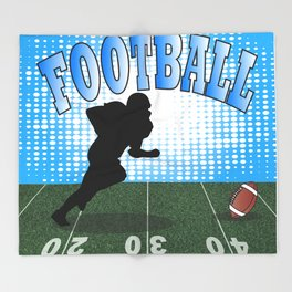 Football Player Throw Blanket
