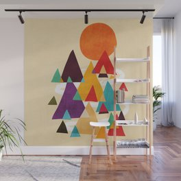 Let's visit the mountains Wall Mural