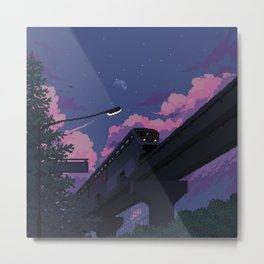 Moonrise twilight Metal Print