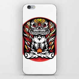 Illustration Demon in the lotus position iPhone Skin