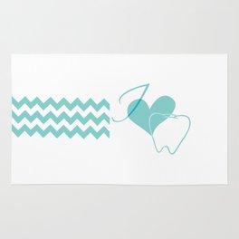 I (heart) Tooth (chevron) Rug