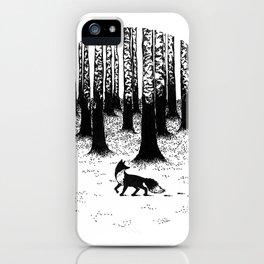 Snow Fox iPhone Case