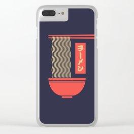 Ramen Japanese Food Noodle Bowl Chopsticks - Black Clear iPhone Case