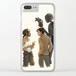 Bodhi, Cassian & K-2SO Clear iPhone Case