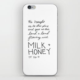 Milk + Honey iPhone Skin