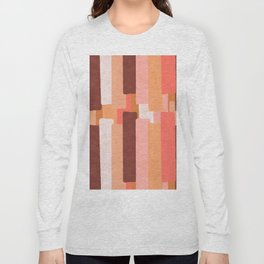 Line In Coral #society6 #abstractart Long Sleeve T-shirt