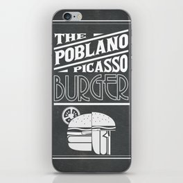 The Poblano Picasso Burger iPhone Skin