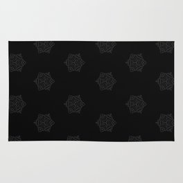 Snowflake I Black Rug
