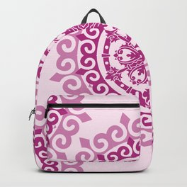 Pink Mandala on Baby Pink Background Backpack