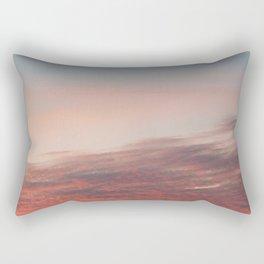 Dappled Peach Skies Rectangular Pillow