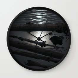 Scout Lake Under Snow and Sun Wall Clock