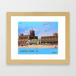 Asbury Park, NJ Framed Art Print